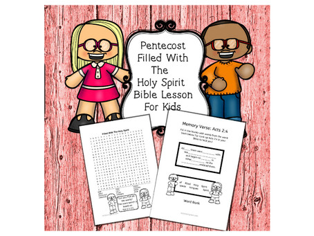 Pentecost|Filled With The Holy Spirit - Bible Lesson For Kids.
