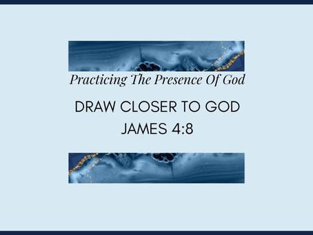 Devotional Bible Study: Draw Closer To God | James 4:8.