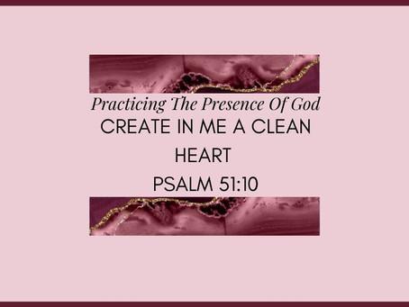 Devotional Bible Study: Create In Me A Clean Heart | Psalm 51:10.