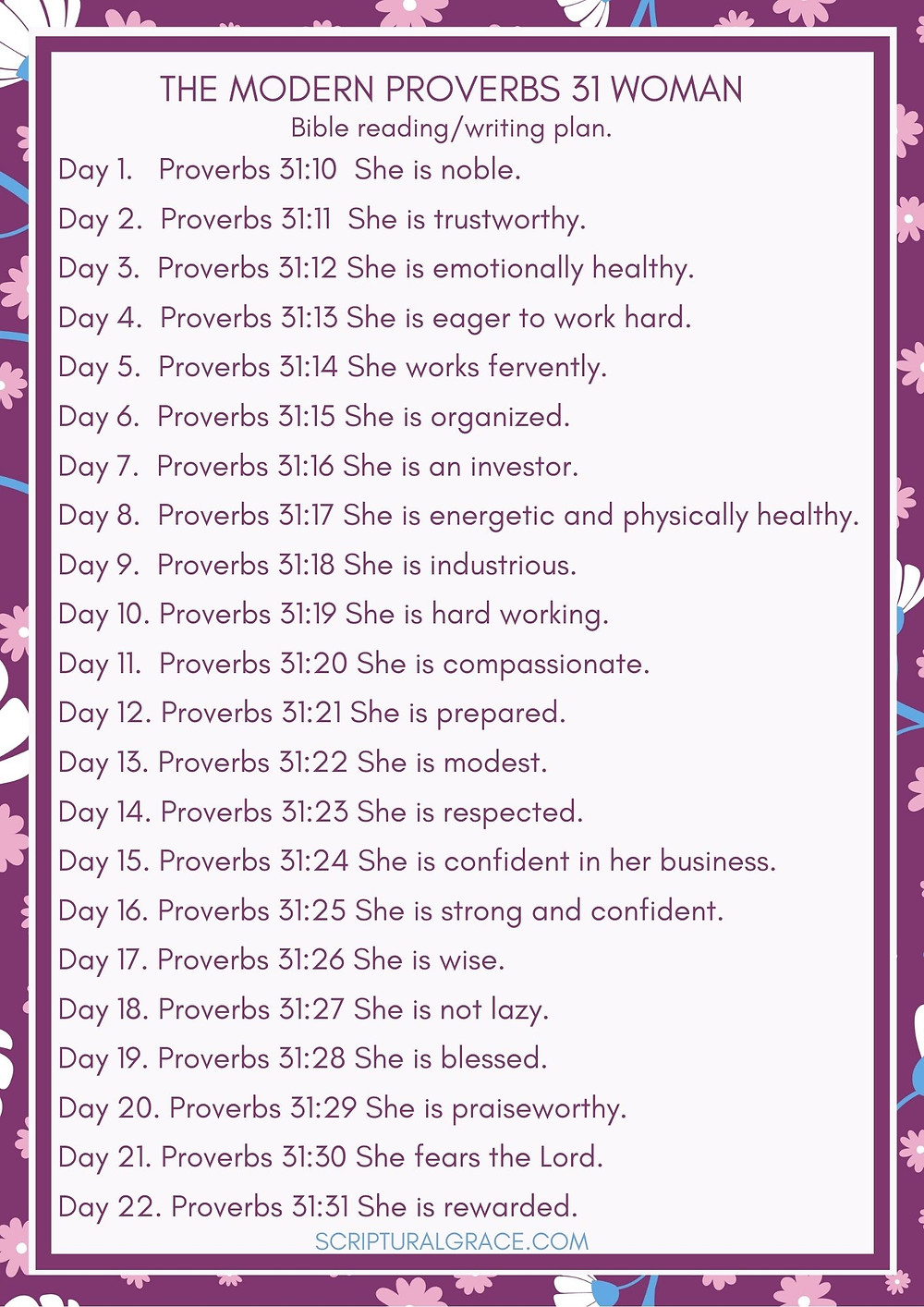 The Proverbs 31 woman bible plan free pdf