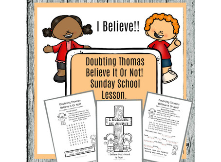Doubting Thomas - Sunday School Lesson.