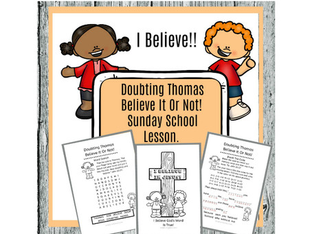 Doubting Thomas - Sunday School Lesson.