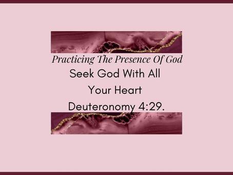 Devotional Bible Study: Seek God With All Your Heart | Deuteronomy 4:29.