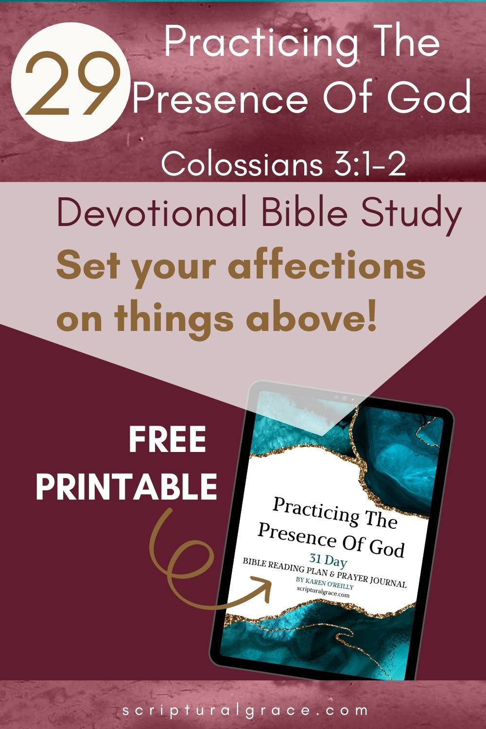 Colossians 3 1-2 Set your affections on things above