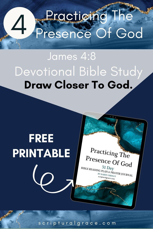 Draw closer to God James 4 8 free pdf