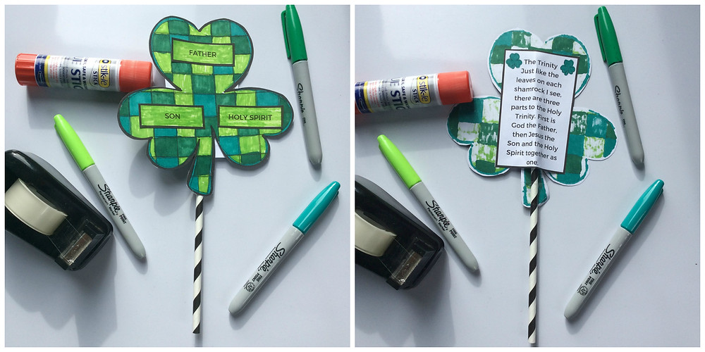 Free template St. Patrick's Day Craft