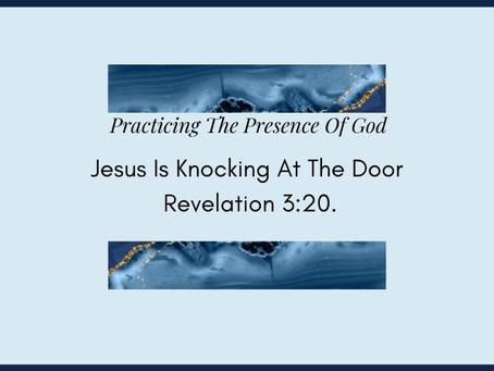 Devotional Bible Study: Jesus Is Knocking At The Door | Revelation 3:20.