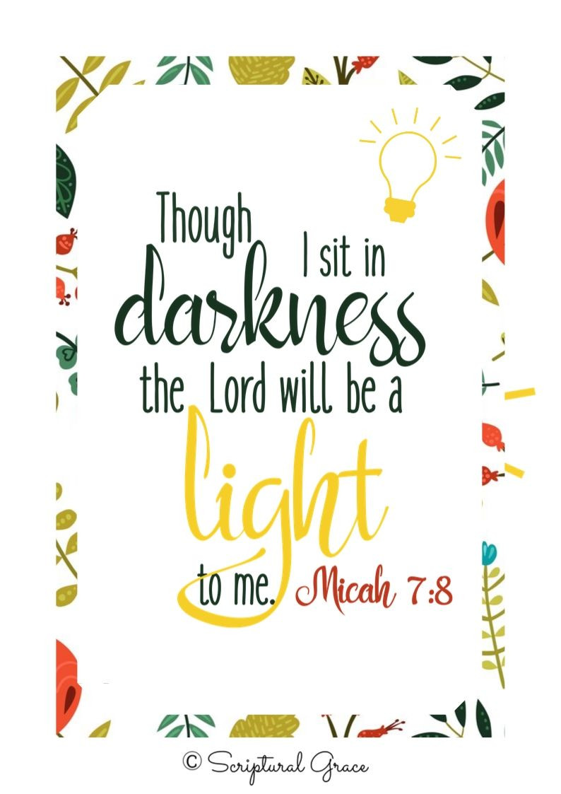 The Lord Is A Light Micah 7:8