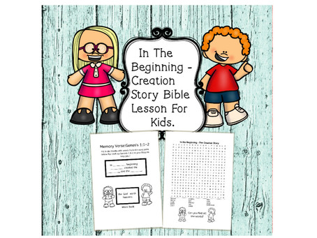 In The Beginning - Creation Story - Bible Lesson For Kids.