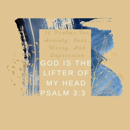 Devotional Bible Study: God Is The Lifter Of My Head   Psalm 3:3.
