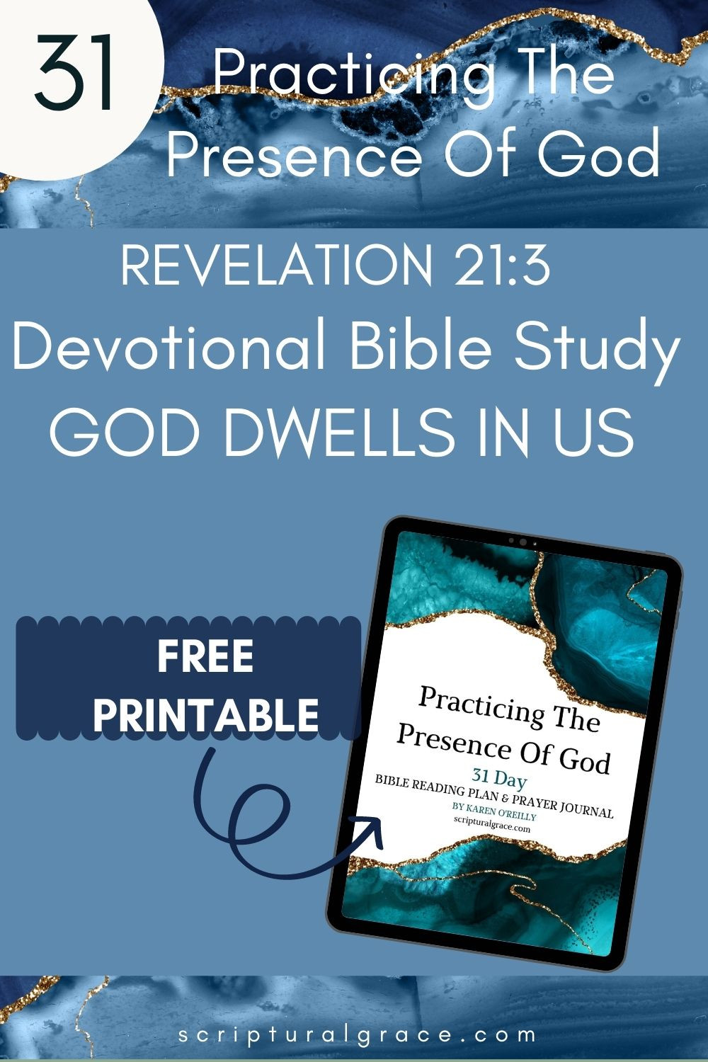 God dwells in us Revelation 21 3 bible study and free guided printable prayer journal
