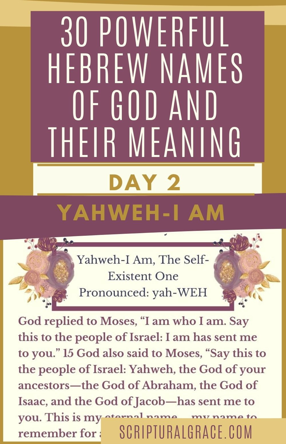 30 Powerful Names Of God day 2- Yahweh
