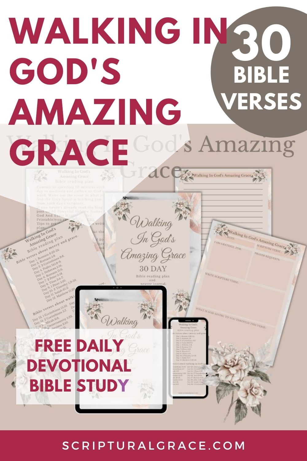 30 Bible verses about God's grace free printable bible reading plan and guided prayer journal