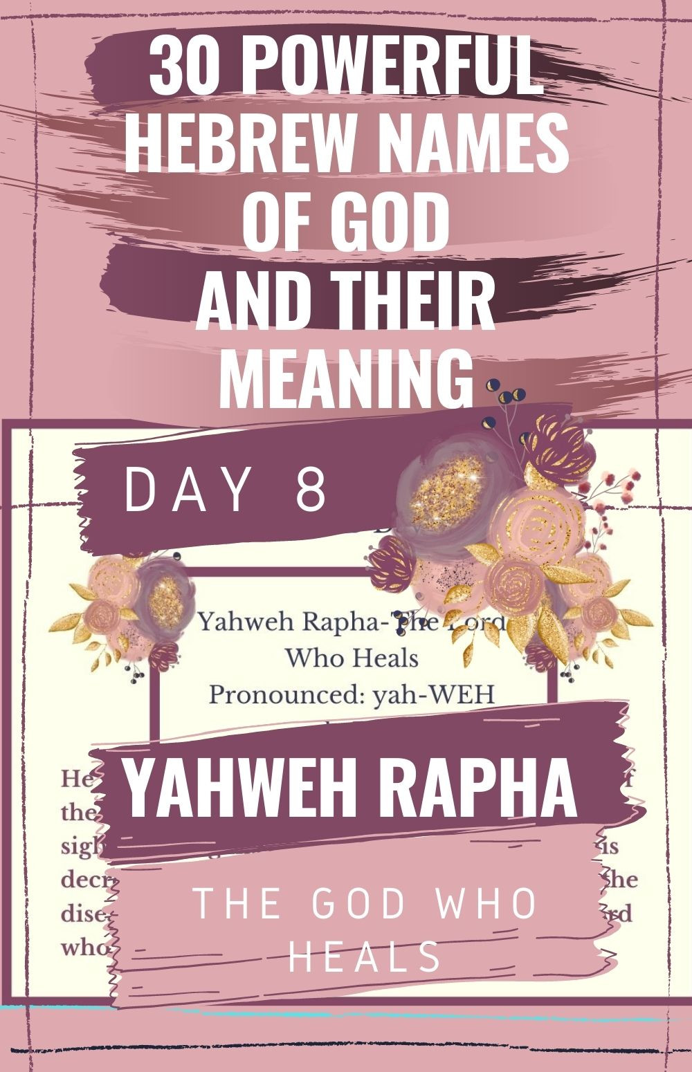 Yahweh Rapha The God Who Heals meaning and free printable