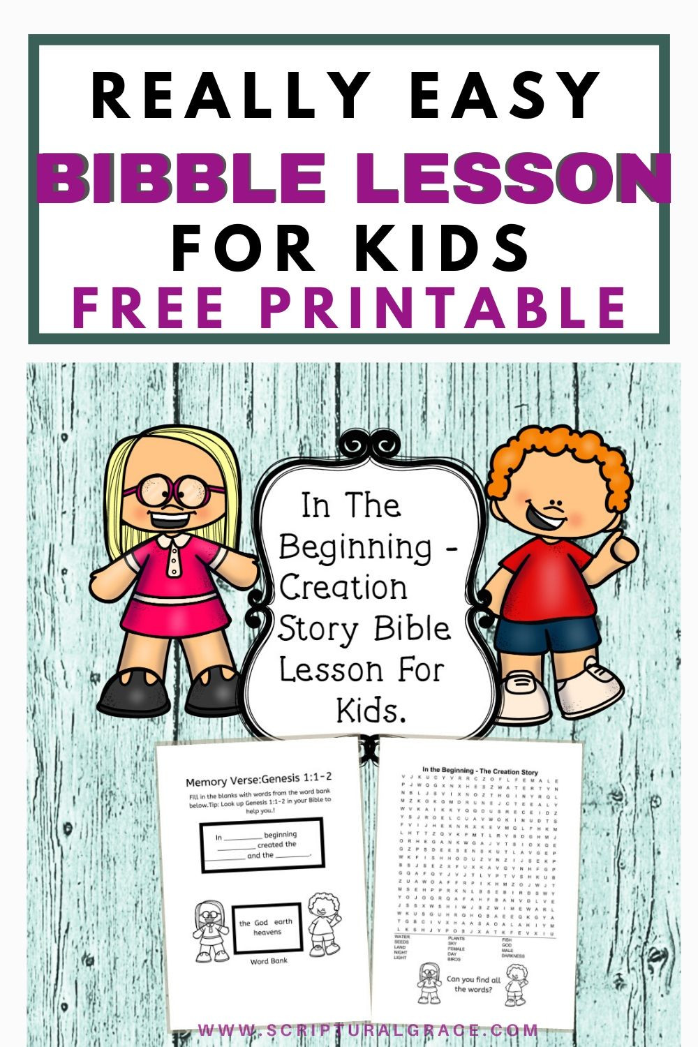 Free fun bible lesson for kids the story of creation and free printable