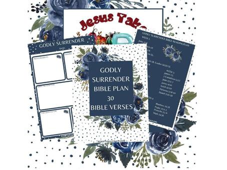 Godly Surrender - Bible Reading/Writing Plan.