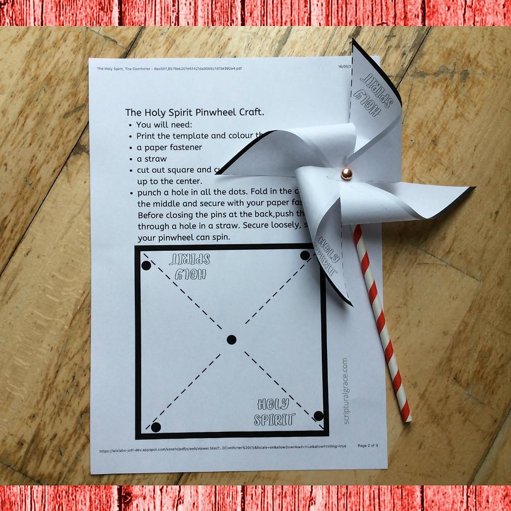 Pinwheel template free