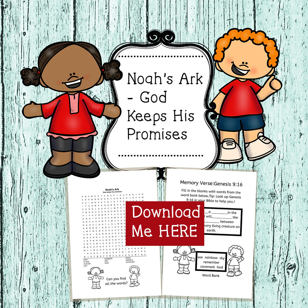 FREE bible lesson printable on Noah's Ark