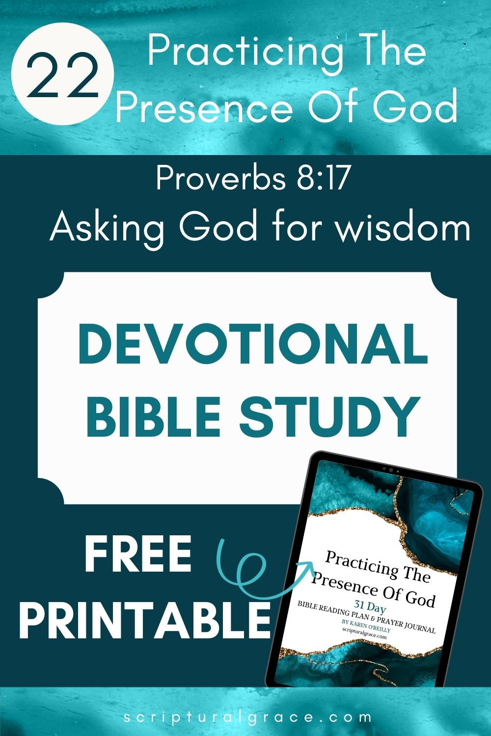 Devotional bible study for women ask God for wisdom Proverbs 8 17