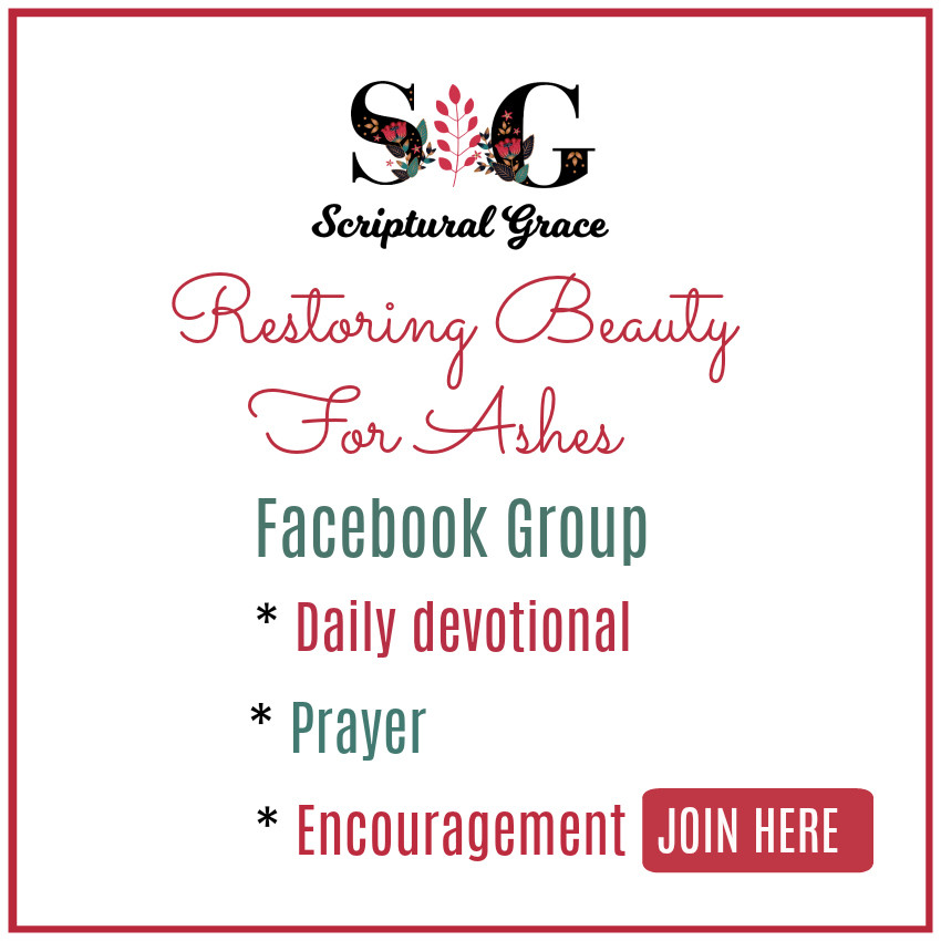 Restoring Beauty For Ashes Facebook Group with Daily Devotionals