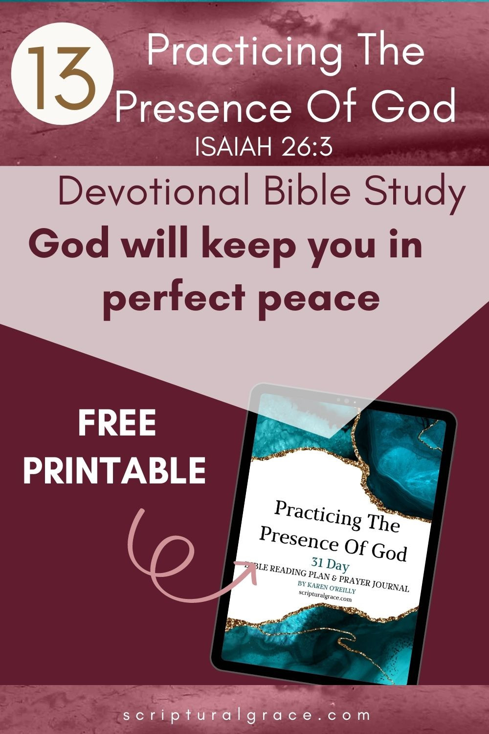 God Will Keep You In Perfect Peace  Isaiah 26 3.devotional bible study for women
