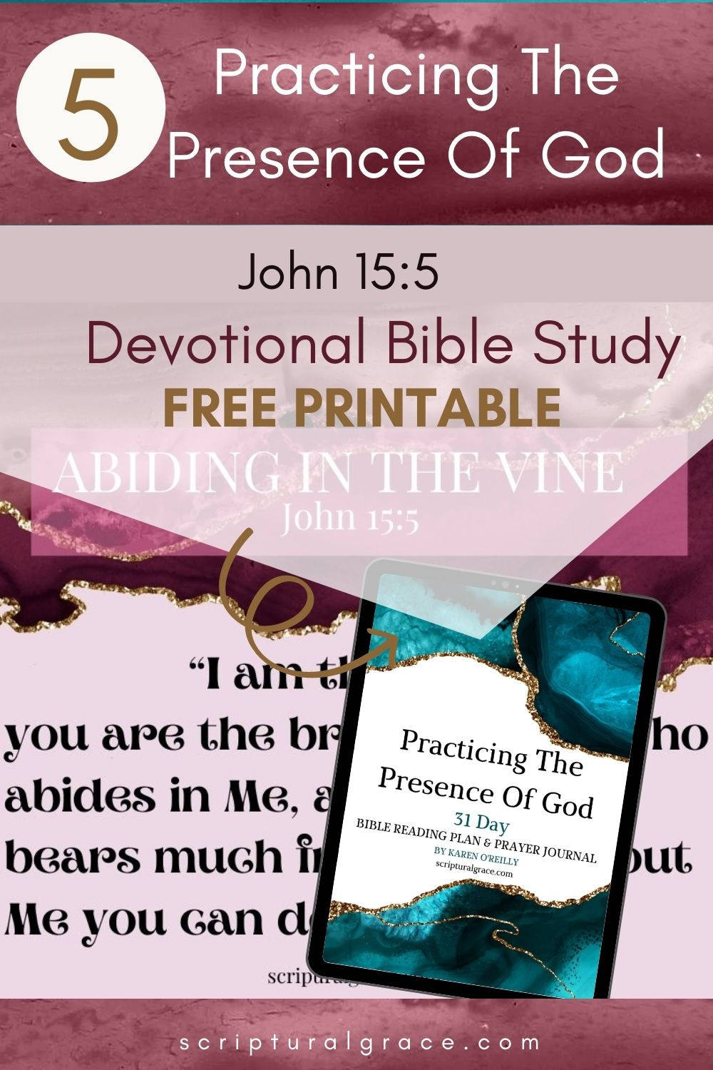 I am the vine you are the branches, abide in christ bible study and free printable john 15 5