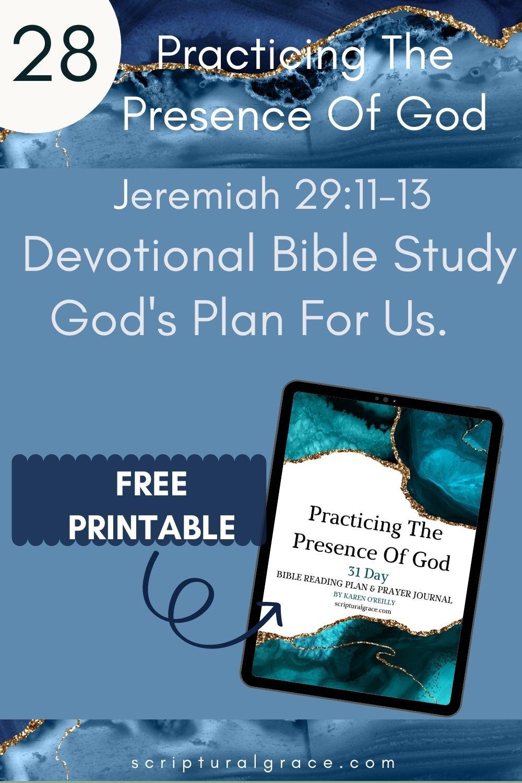 Jeremiah 29 11-13 God's plan for us devotional bible study for women