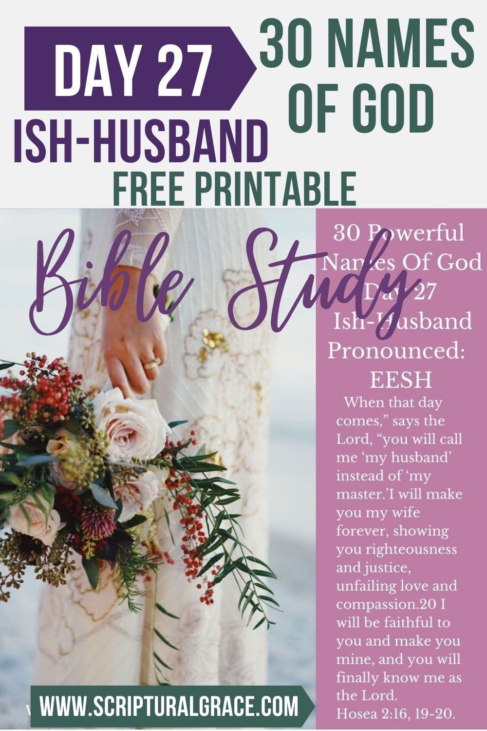 30 Names of God day 27 Ish-Husband bible study and free printable