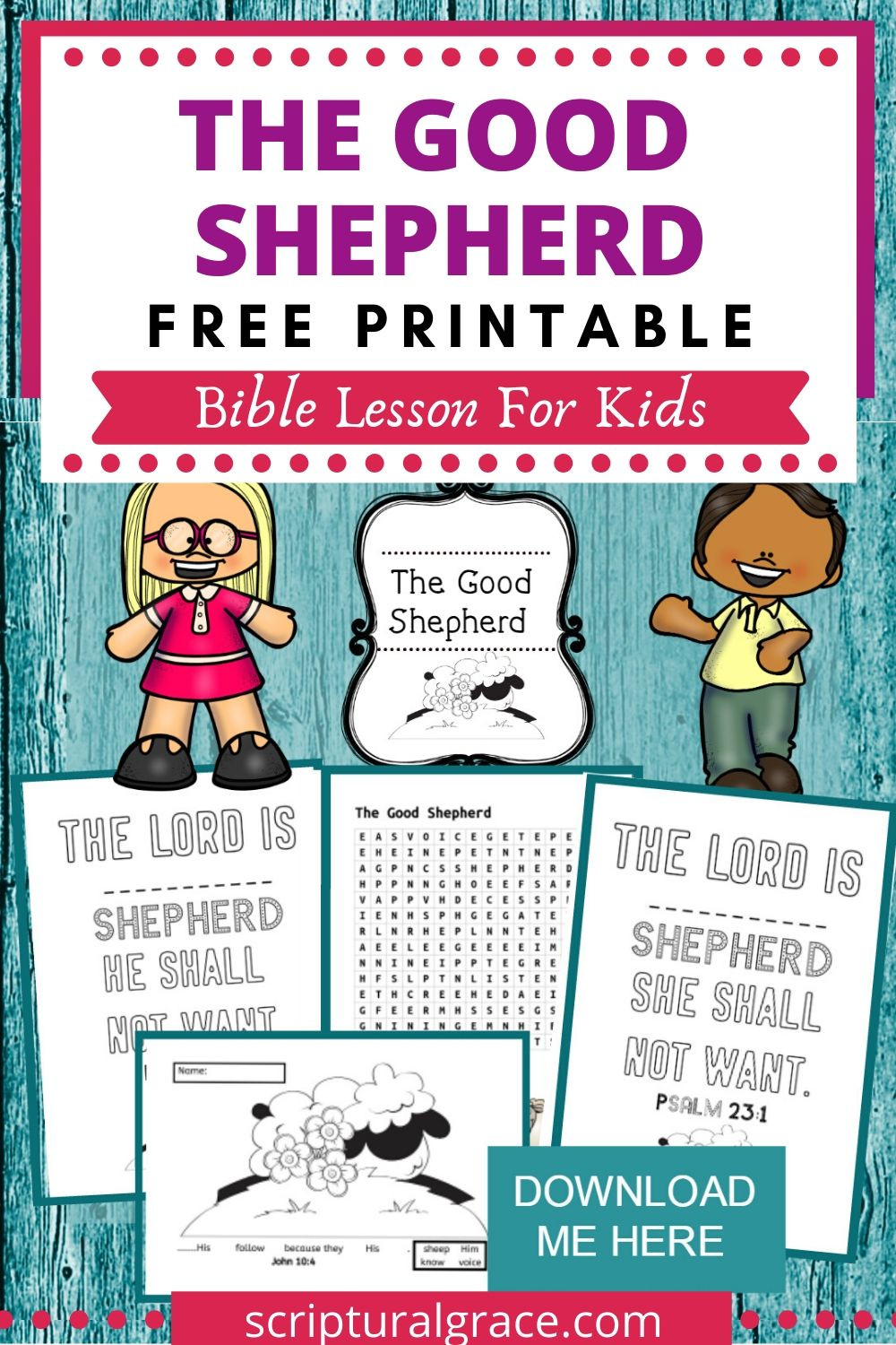 The Good Shepherd Bible Lesson For Kids and free printable