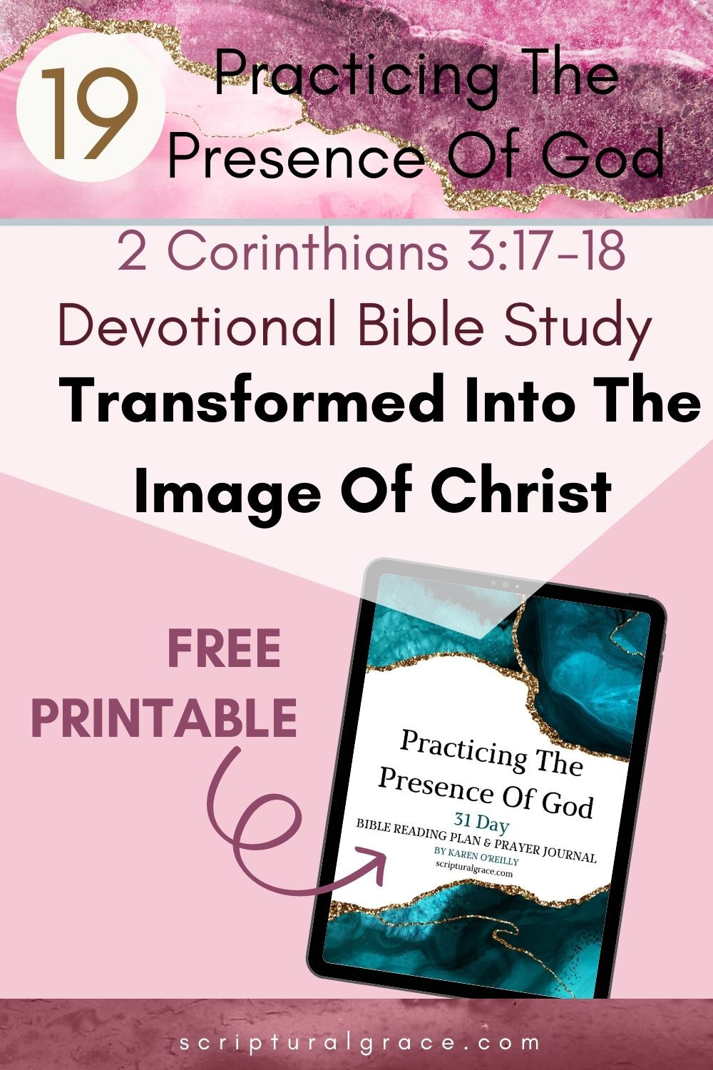 Transformed Into The Image Of Christ  2 Corinthians 317-18 devotional bible study