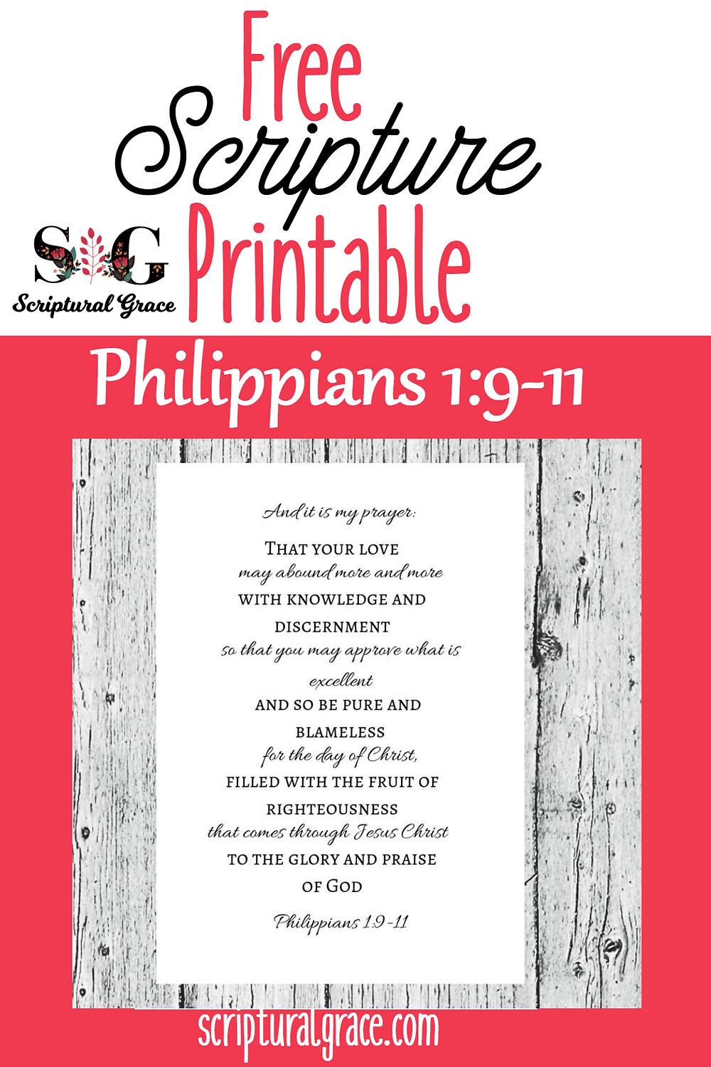 Free scripture printable on Philippians 1:9-11 #christianprintablr,#scripture, #bibleverse