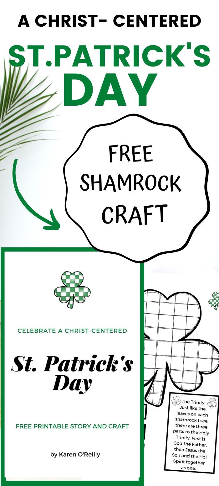 A Christ-Centered St. Patrick's Day and free shamrock craft