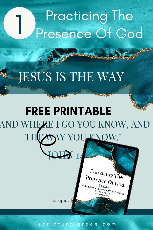 Free printable bible study on john 14:4 Jesus is the way.