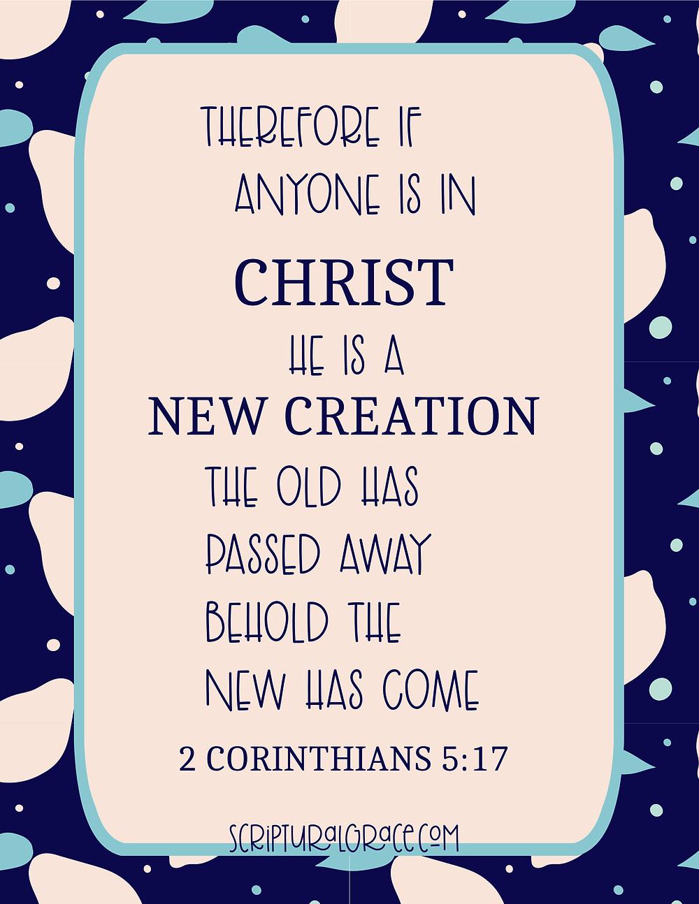 Free Printable 2 Corinthians 5:17