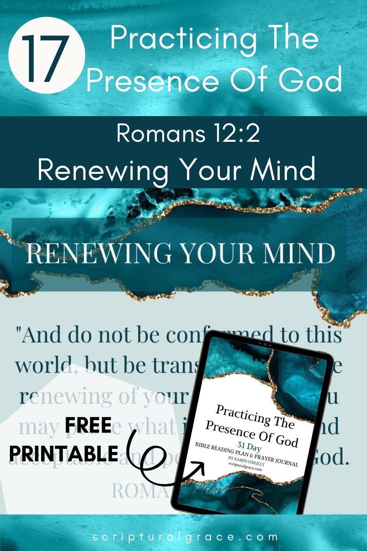 Romans 12 2 Renewing your mind devotional bible study