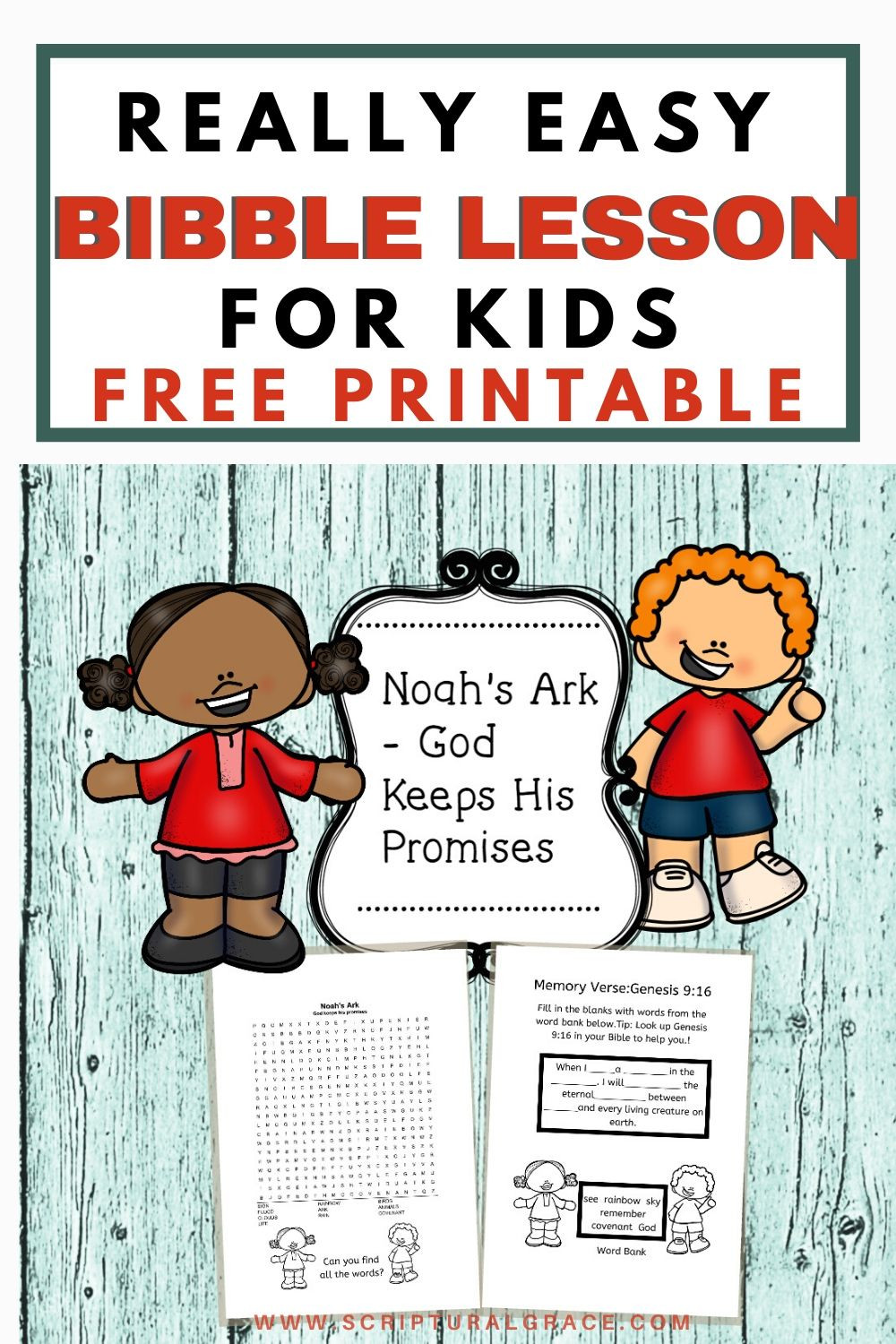 Free bible lesson for kids Noah's Ark Free printable
