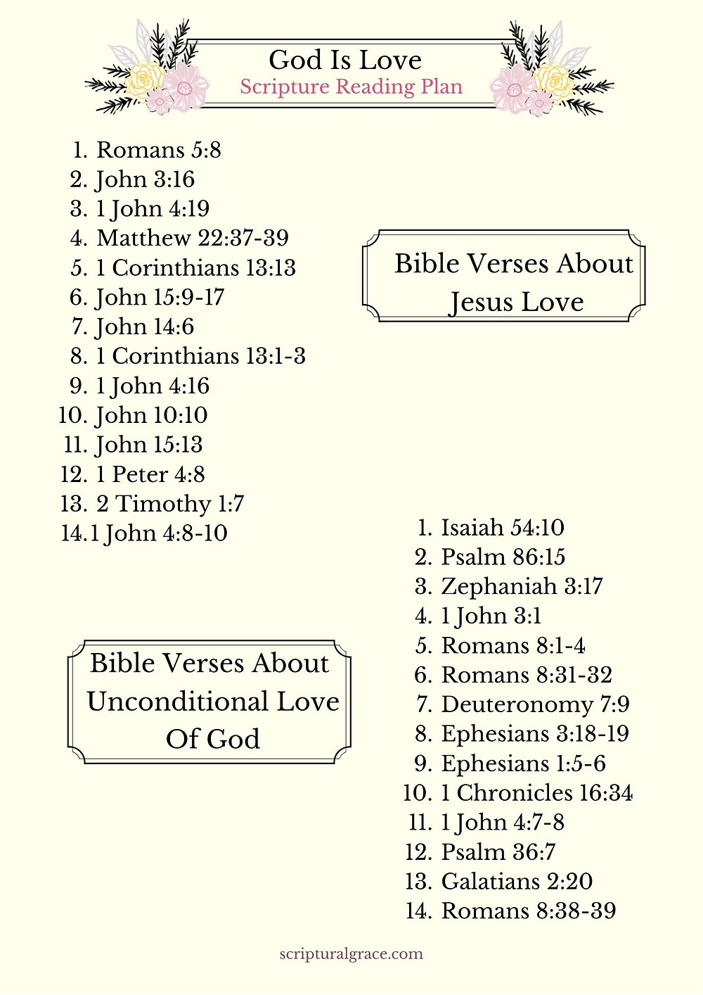 28 Bible verses about love