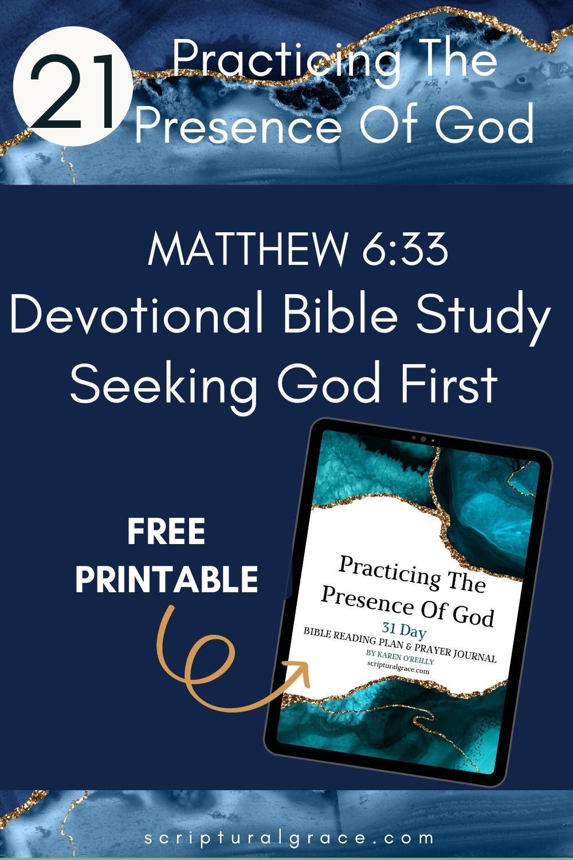 Seeking God First  Matthew 633 devotional bible study for women
