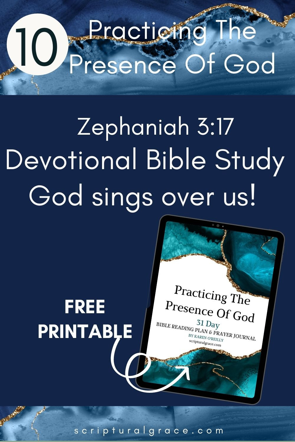 God sings over you. zephaniah 3:17 devotional for women and free printabe prayer journal
