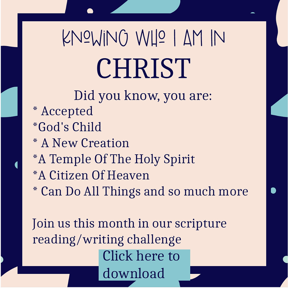 FREE knowing who I am in Christ free printable