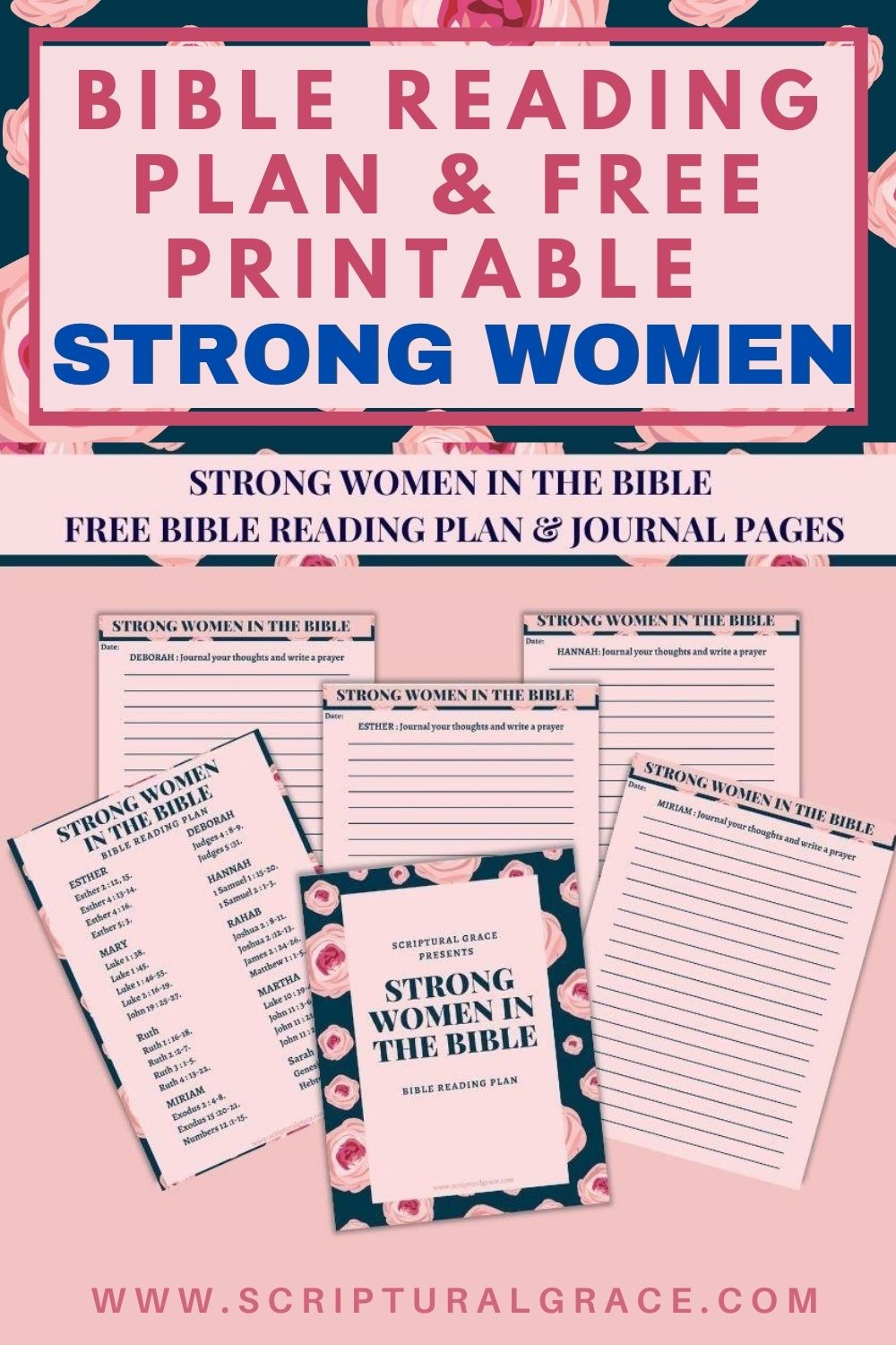 bIBLE READING PLAN STRONG WOMEN AND FREE PRINTABLE