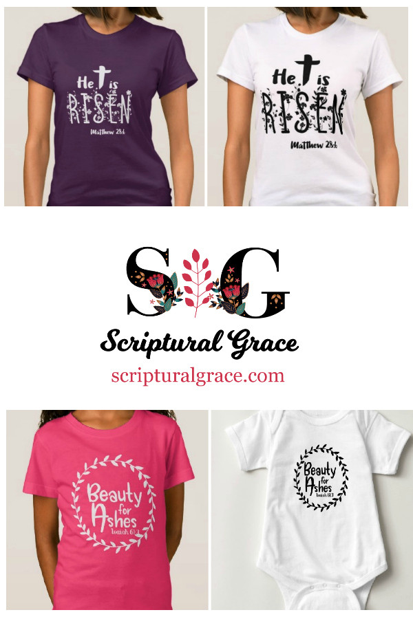 Christian women's Easter shirts and children's Easter shirts.
