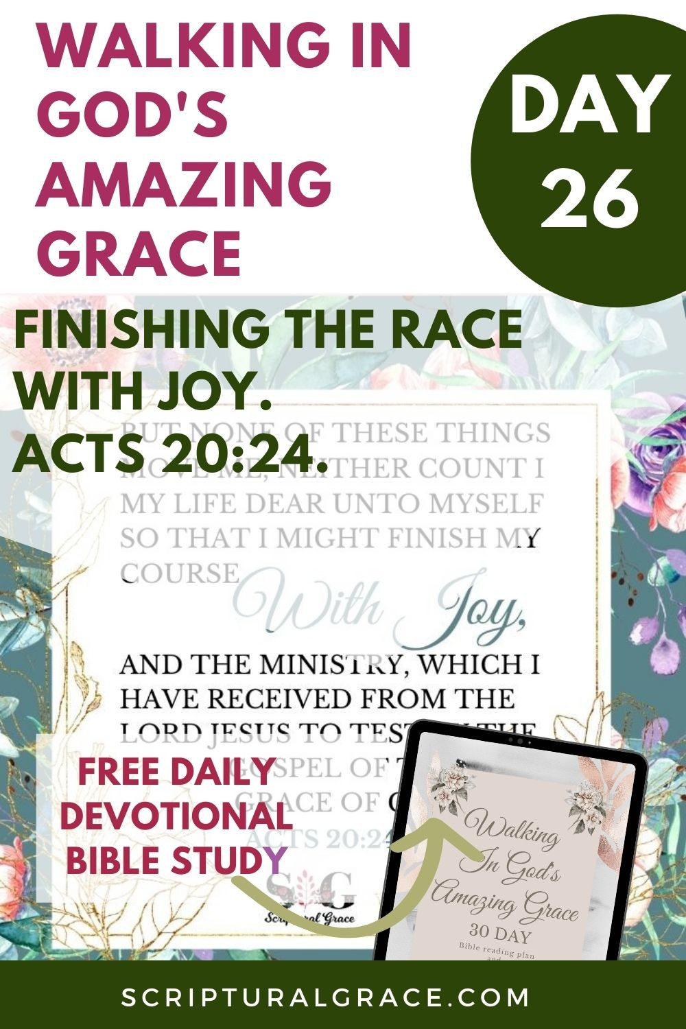 Finish the race Acts 20 24 devotional bible study