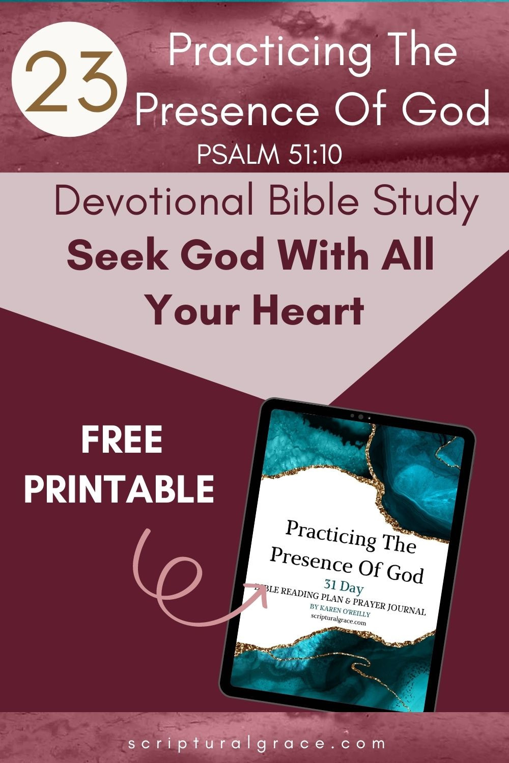 Seek God With All Your Heart Deuteronomy 4 29 devotional bible study and free printable