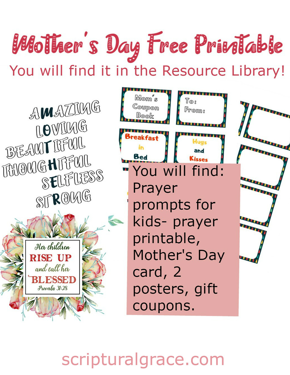 Free printables for Mothers Day