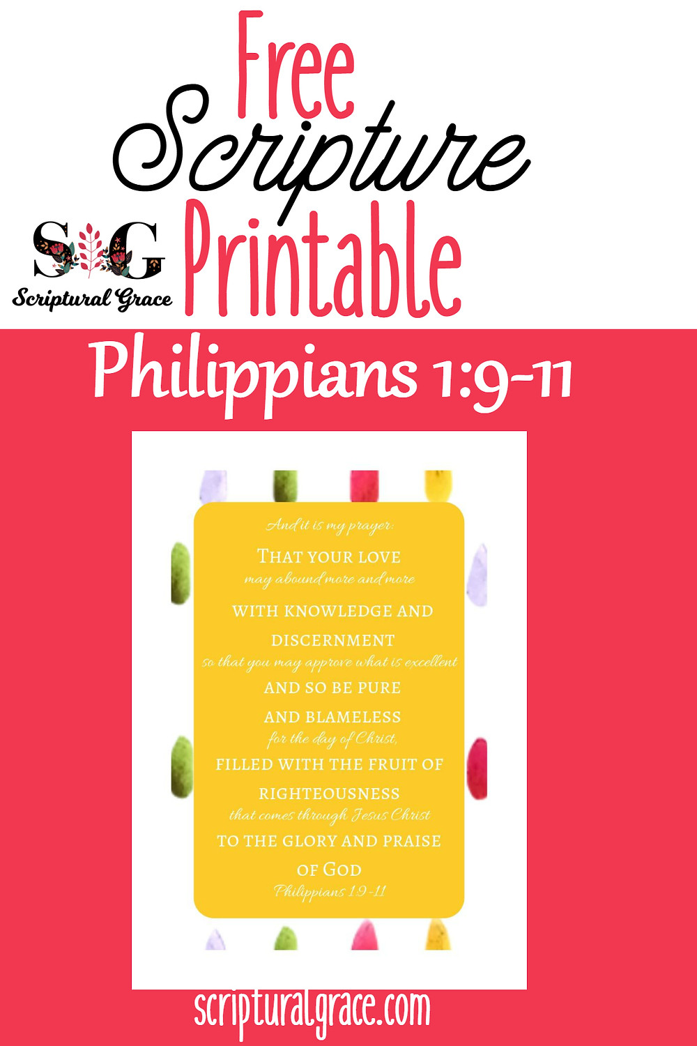 Afun bright colored free printable scripture poster and cards