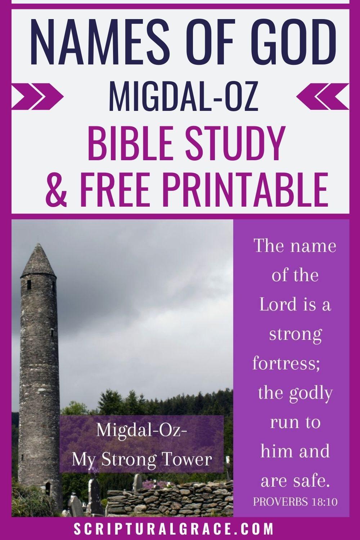 Migdal-Oz-My Strong Tower names of God bible study and free printable bible journal