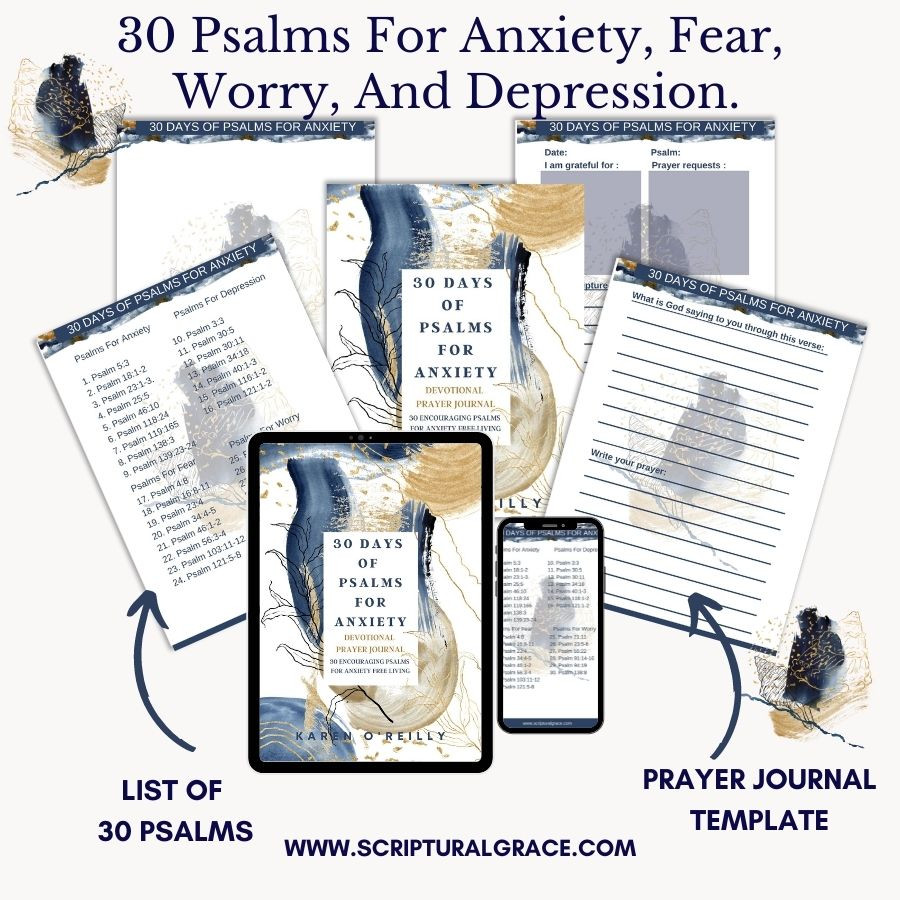 30 PSALMS FOR ANXIETY AND FREE GUIDED PRAYER JOURNAL