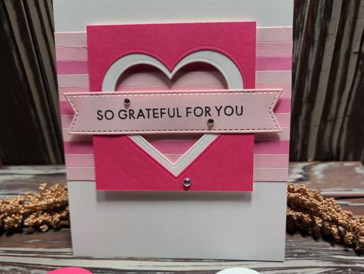 Paper Strip Valentine Card