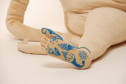 Embroidered foot detail